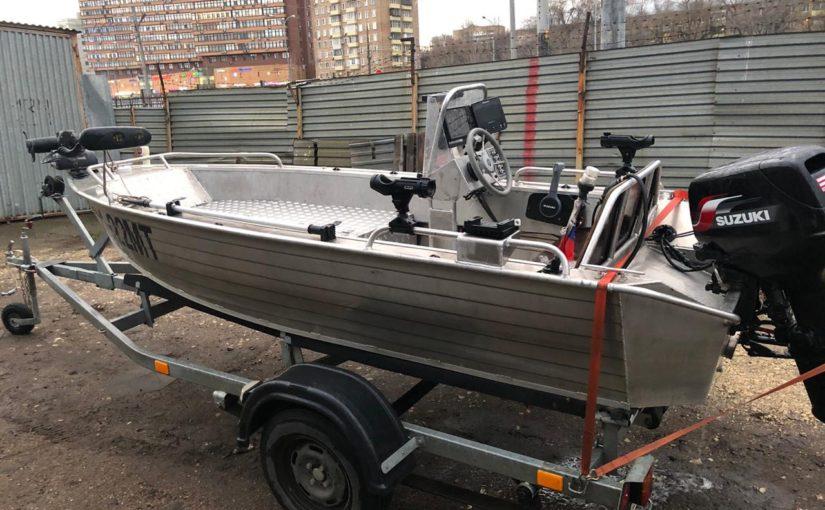 [Продано] Продажа рыболовной лодки Вельбот 42К + Suzuki 30 DT30 RS